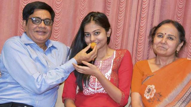 IAS Artika Shukla with her Mother-father