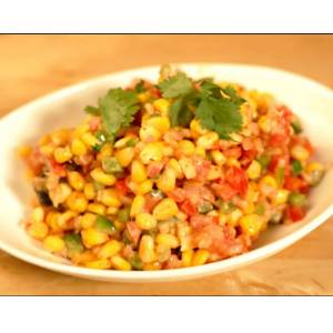 spicy corn bhel made at home